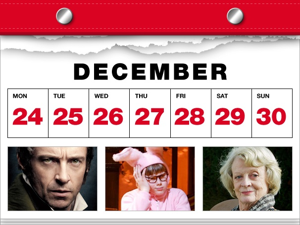 Les Miz Is Here at Last, A Christmas Story Packs Up Its Leg Lamp & Maggie Smith Goes Diva in This Week's Datebook