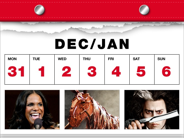 Audra McDonald Rings in the New Year, War Horse Rides Into the Sunset & More in This Week's Datebook