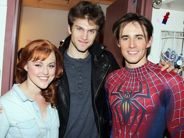 Pretty Little Liars Hunk Keegan Allen Flies Into Spider-Man, Turn Off the Dark for a Backstage Visit