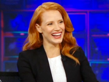 Oscar-Nominated The Heiress Star Jessica Chastain Explains Why Shes a Crazy Person on The Daily Show