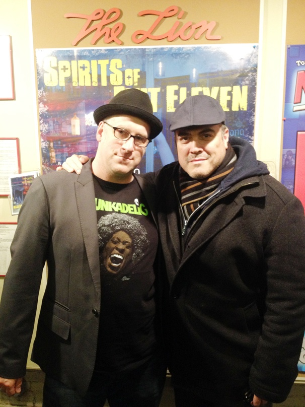 David Zayas Celebrates Opening Night of Spirits of Exit Eleven With Playwright Michael Puzzo