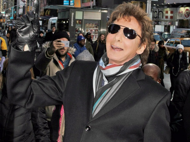 This One's for You! Music Legend Barry Manilow Celebrates Broadway Return on His Very Own Street Corner