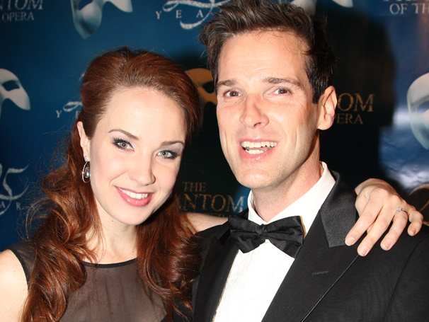 Happy 25th! Hugh Panaro, Sierra Boggess & the Cast of The Phantom of the Opera Celebrate a Spectacular Broadway Birthday