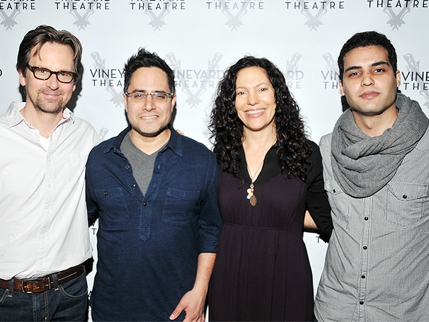 Rajiv Joseph & the Cast of Vineyard Theatre's The North Pool Meet the Press