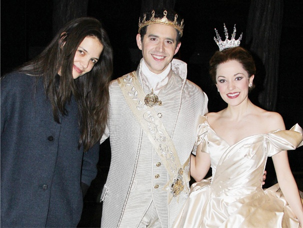 Katie Holmes Takes in the Enchantment of Cinderella, Starring Laura Osnes & Santino Fontana 