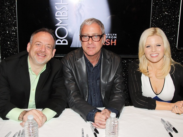Smash's Megan Hilty Glams It Up with Marc Shaiman and Scott Wittman at Bombshell Album Signing
