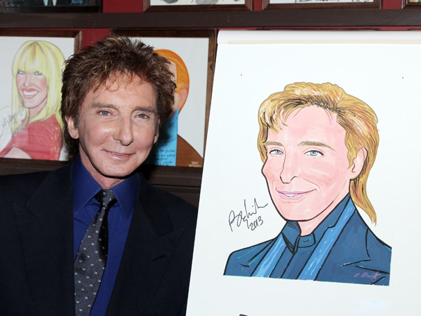 Looks Like He Made It! Barry Manilow Is Honored With a Portrait at Sardi's