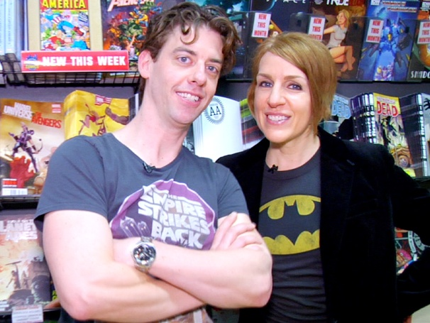 Bang! Pow! Smash! Susan Blackwell and Christian Borle Take a Geek Field Trip to the Comic Book Store