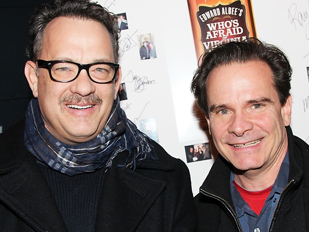 Get the Guests! Lucky Guy Stars Tom Hanks & Peter Scolari Visit Whos Afraid of Virginia Woolf? 