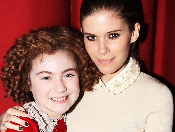 House of Cards Star Kate Mara & Rocker Dave Grohl Get Happy at Annie