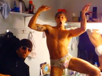 Rock of Ages Underwear Party! Watch Joey Calveri & Kate Rockwell Take on Ke$ha in a Wacky Music Video