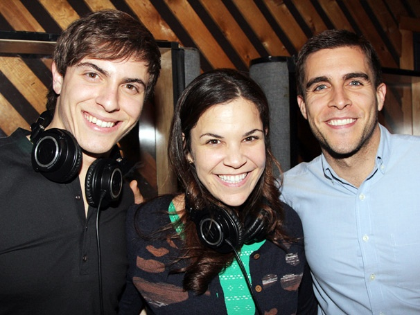 Exclusive Photos! Step Into the Recording Studio With Lindsay Mendez, Derek Klena & the Cast of Dogfight