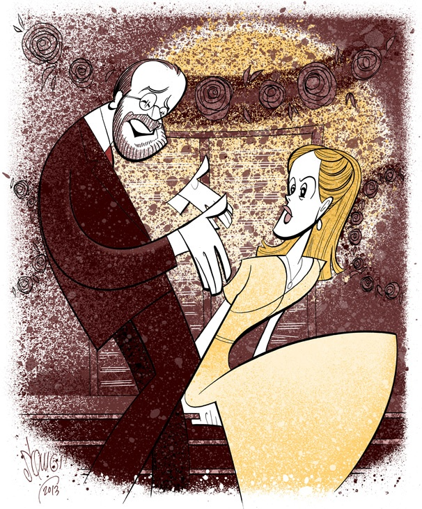 Squigs Sketches a Sweet Summer Romance Between Sarah Paulson and Danny Burstein in Talley's Folly