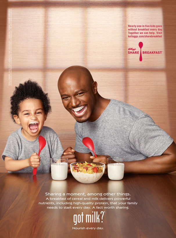 Taye Diggs and Son Walker Nathaniel Model Milk Mustaches in New Ad