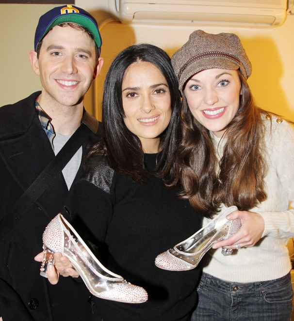 Santino Fontana & Laura Osnes Show Off Cinderella's Glass Slippers for Salma Hayek