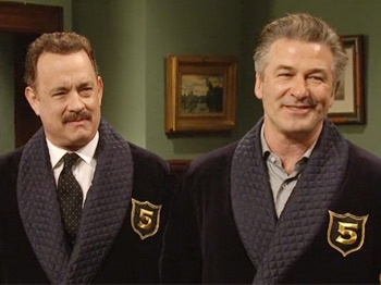 Watch Tom Hanks and Alec Baldwin Give Hosting Advice to Justin Timberlake on SNL