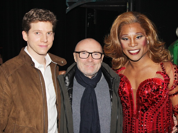 Grammy Winner Phil Collins Dances into the Light Backstage at Kinky Boots