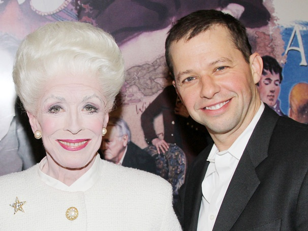 Jon Cryer Congratulates His Two and a Half Men Mom Holland Taylor Backstage at Ann 