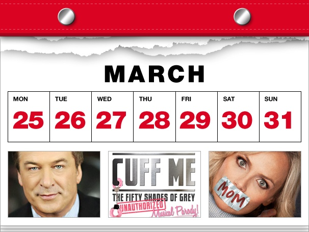 Alec Baldwin Bounces Back to Broadway, Fifty Shades Sexes Up the Stage & Kristin Chenoweth Goes to the Movies in This Week's Datebook