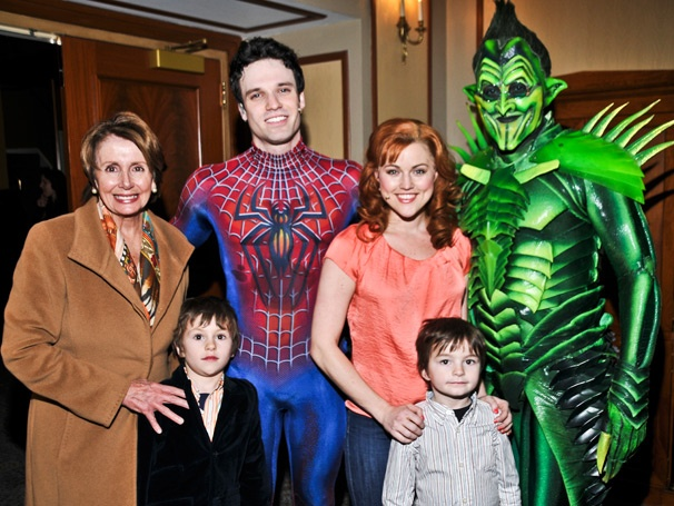 Congresswoman Nancy Pelosi & Family Take in the High-Flying Action of Spider-Man, Turn Off the Dark