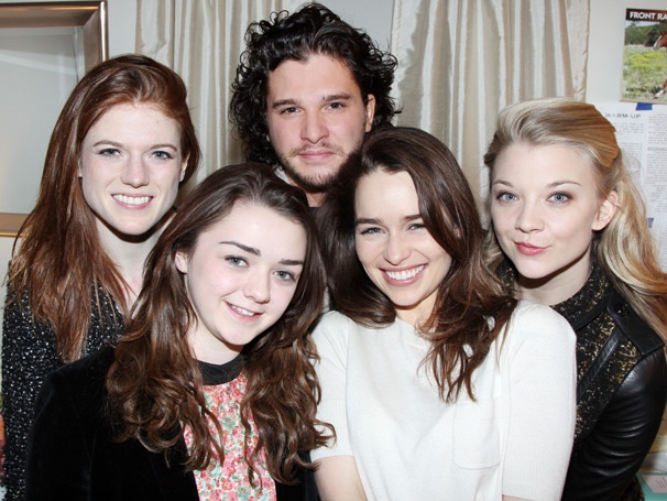 Emilia Clarke Holds Court with Royal Game of Thrones Visitors at Breakfast at Tiffany's