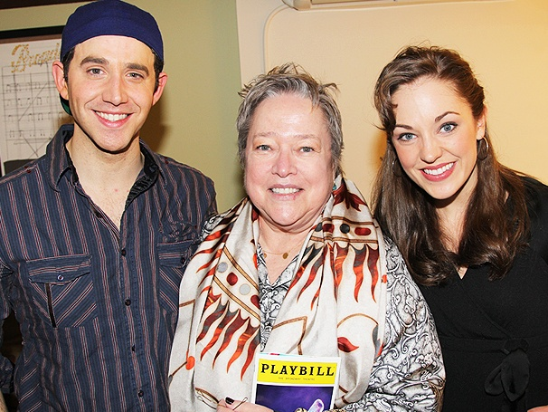 Santino Fontana, Laura Osnes & the Cast of Cinderella Welcome Oscar Winner Kathy Bates