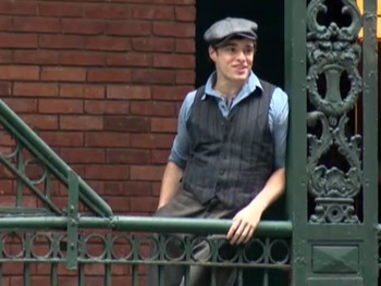 Watch the Cast of Newsies Carry Their Banner to the Streets of NYC for Broadway Anniversary 