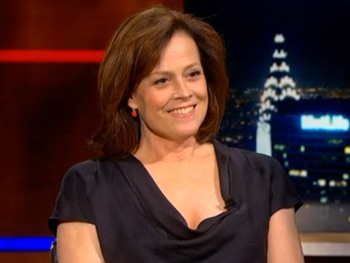 Sigourney Weaver Goes on The Colbert Report to Talk Bra Burning and 'Slumming' on Broadway
