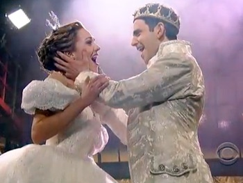 Cinderella's Laura Osnes, Santino Fontana and Victoria Clark Bring Their Magical Moves to The Late Show