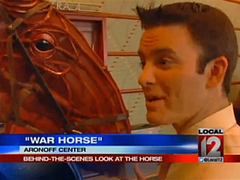 Watch War Horse Star Puppet Joey Amaze Local Newsman