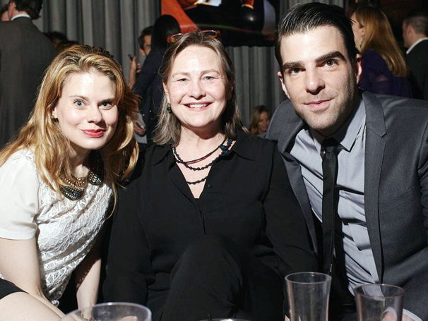 Zachary Quinto Celebrates Manhattan Magazine Cover With Cherry Jones & Celia Keenan-Bolger