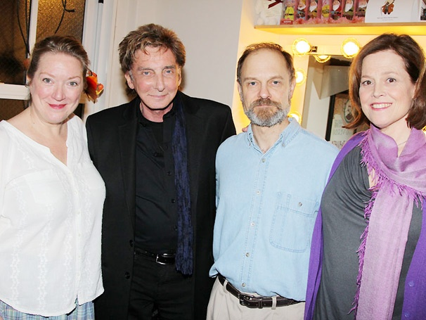 Barry Manilow Shares a Laugh with Vanya Stars Sigourney Weaver, David Hyde Pierce & Kristine Nielsen