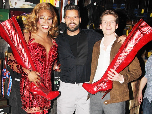 Everybody Say Ricky! Pop Star & Broadway Vet Ricky Martin Makes the Scene at Kinky Boots