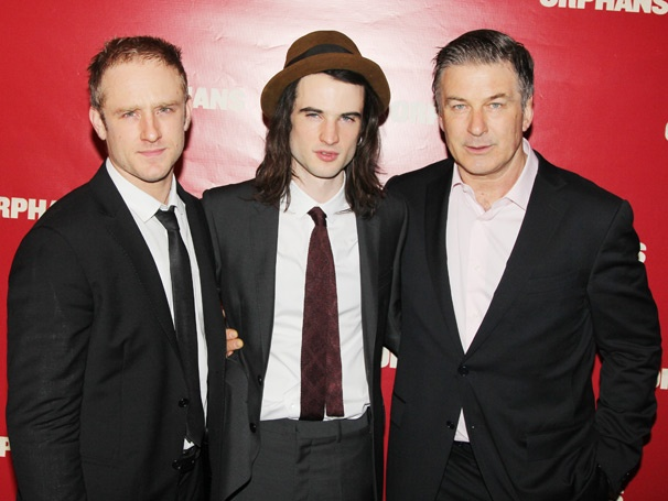 It's an Electrifying Opening Night for Orphans, Starring Alec Baldwin, Ben Foster & Tom Sturridge