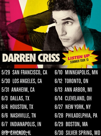 Darren Criss Is Coming to a City Near You! The Glee Star Announces Summer Tour & Upcoming Album