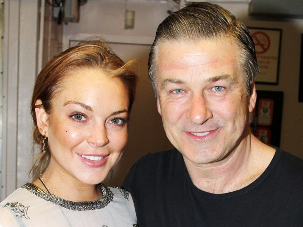 Exclusive! Lindsay Lohan Visits Alec Baldwin Backstage at Broadways Orphans
