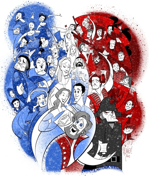 Squigs Raises the Flag for the National Tour of Les Miserables' 1,000th Performance