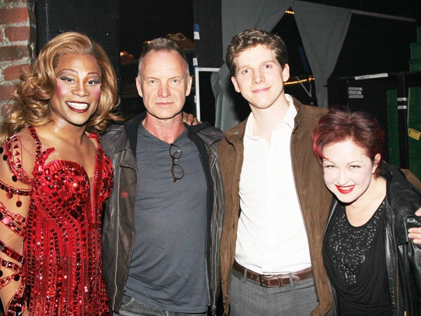 Rock Icon Sting Joins Composer Cyndi Lauper and the Stars of Broadway's Kinky Boots 