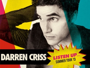 Click to Help Darren Criss! The Glee Star Wants YOU to Suggest Broadway Songs for His Listen Up Tour