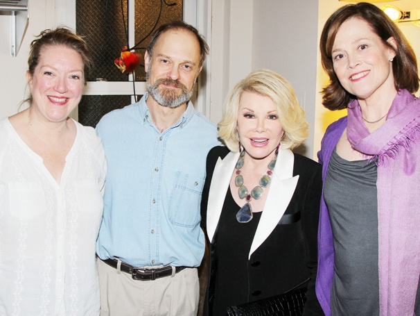 Joan Rivers and Tab Hunter Visit the Funny Folks at Vanya and Sonia and Masha and Spike