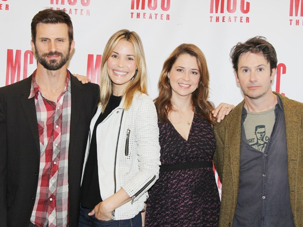 Reasons To Be Happy Stars Jenna Fischer, Leslie Bibb, Josh Hamilton & Fred Weller Meet the Press