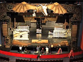 Watch Over 100 Crew Members Create the Wonderful World of Wicked on Stage