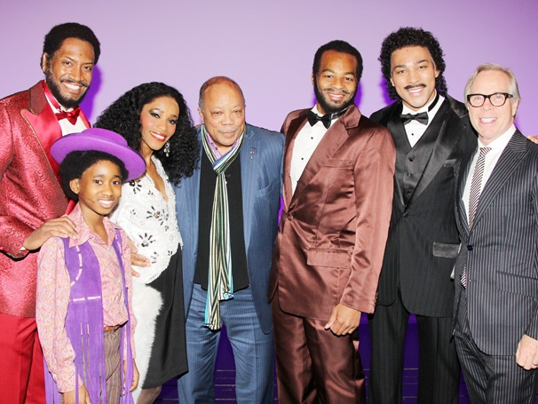 Quincy Jones and Tommy Hilfiger Make a Stylish Splash Backstage at Motown The Musical