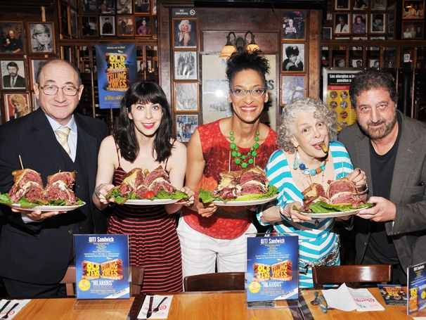 The Chew's Carla Hall Cooks Up a Special Sandwich for Old Jews Telling Jokes at the Carnegie Deli 