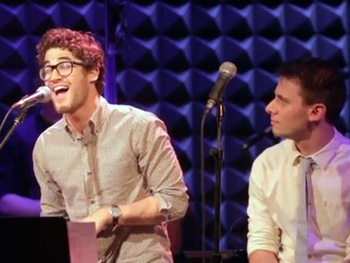Watch Darren Criss Perform 'Do You Remember' by Pasek & Paul at Joes Pub