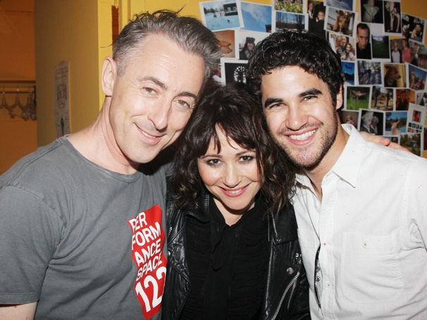 Come, You Spirits! Alan Cumming Welcomes Frances Ruffelle & Glee's Darren Criss Backstage at Macbeth