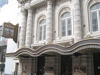 The Nance Patron Takes a Tumble and Falls onto the Lyceum Theatre Marquee