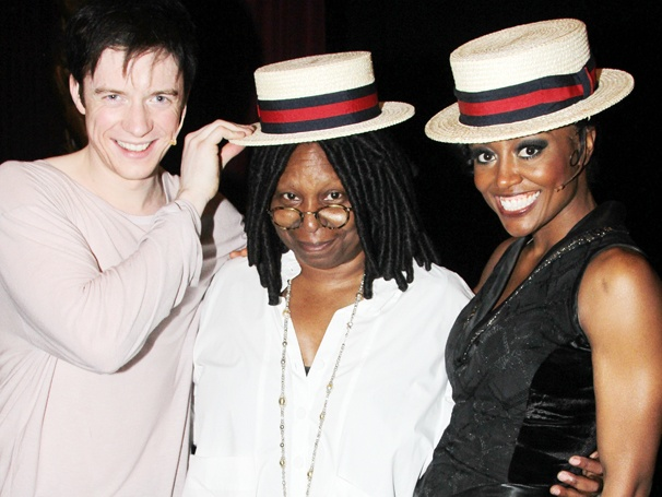 Whoopi Goldberg Has an Extraordinary Evening at Pippin with Matthew James Thomas & Patina Miller