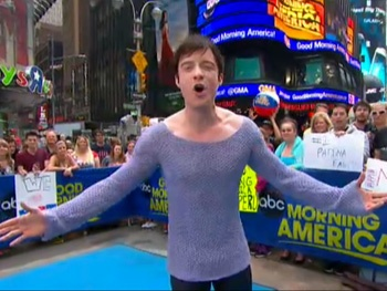 Matthew James Thomas, Patina Miller & the Cast of Pippin Make Magic on Good Morning America