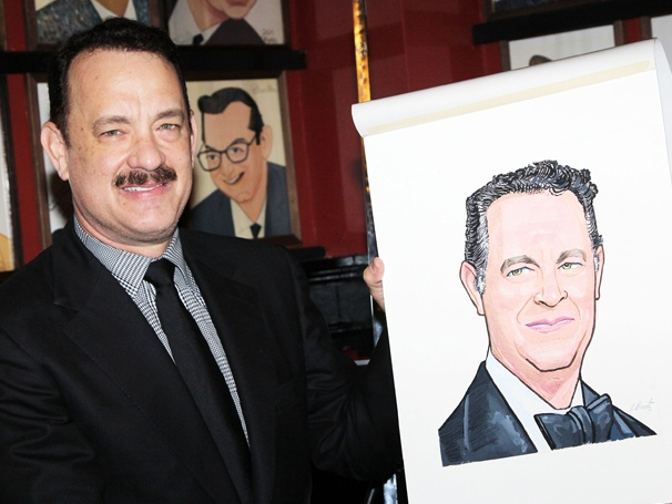 Lucky Guy Indeed! Tony Nominee Tom Hanks Joins the Portrait Wall at Sardi's